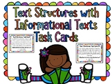 Text Structures with Informational Texts Task Cards & Cooperative Learning Games