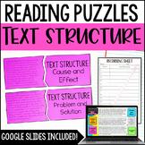 Text Structures Puzzles | w/ Digital Text Structure Activi