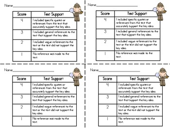 Text Support Rubric