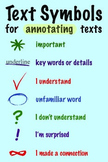 Text Symbols for Annotations Poster