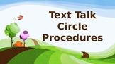 Text Talk Circle Procedures