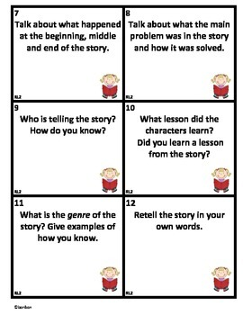 Common Core text-based questions for ANY literature story