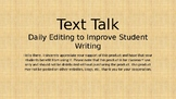 Text Talk: Daily Editing Practice