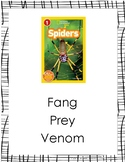 Text Talk Lesson Spiders