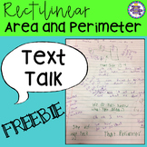 Text Talk: Rectilinear Area and Perimeter Tasks {Grades 3 - 5} FREEBIE!