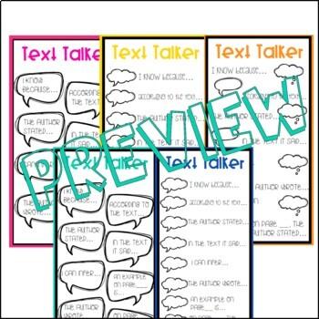 Text Talker Bookmark