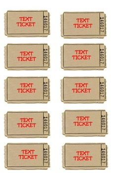 Text Tickets