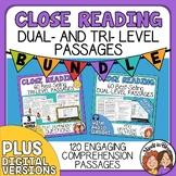 Text Time Close Reading Passages Bundle for Multiple Grade