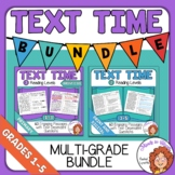 Text Time Close Reading Passages Bundle for Multiple Grades
