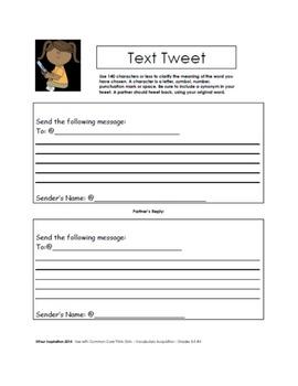 Text Tweet Vocabulary Strategy