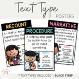 Text Type Posters {Narratives, Recounts, Procedures etc}