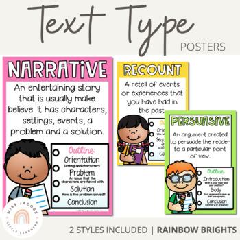 Text Type Posters {Rainbow Theme}