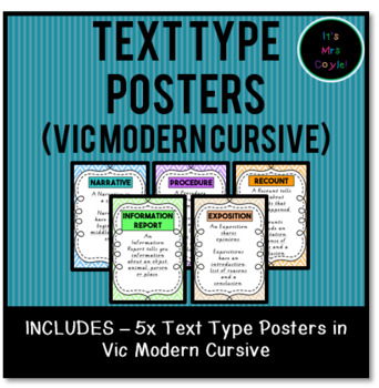 Text Type Posters Vic Modern Cursive