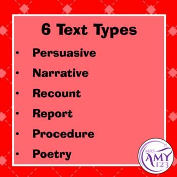 Text Type Rubrics