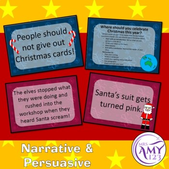 Text Type Writing Christmas Prompts Bundle - Poetry, Persuasive and More!
