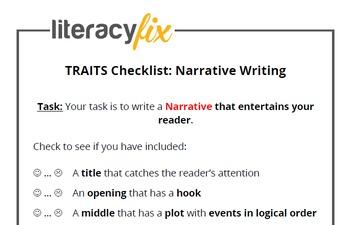 Traits of Writing Checklist - Narrative Writing