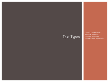 Text Types - How to construct them