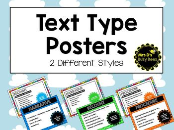 Text Types Posters - 2 styles included!