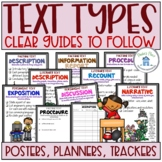 Text Types Posters Planners and Trackers