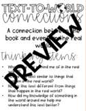 Text-World-Connections Anchor Chart Template
