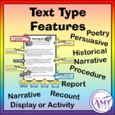 Text Type Writing Features - Display or Activity