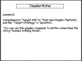 Text and Graphic Features Graphic Organizer, Journey's Unit 2, Lesson 6, Grade 2