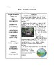Text and Graphic Features Reading Skill Sheet