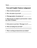 Text and Graphic Features Activity