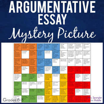 Argumentative Writing Mystery Picture ~ Text based!