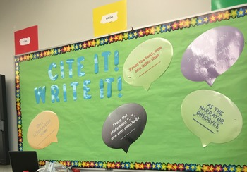 Text-Based Evidence Sentence Frames Poster Set