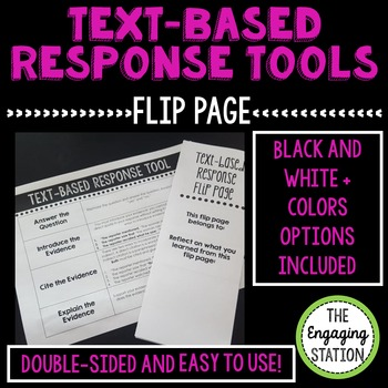 Text-based Response Tool with Double-Sided Foldable