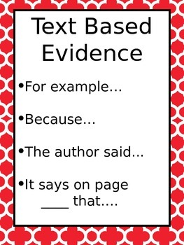 Text based evidence