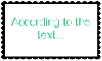 Text evidence terms