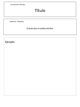 Text features book in spanish