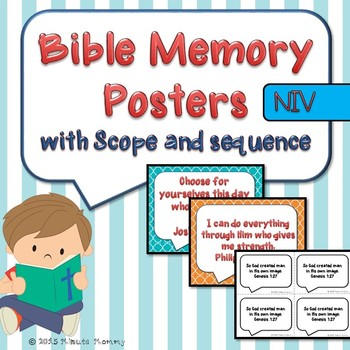 Bible Verse Memory Posters: with scope and sequence for year {NIV}