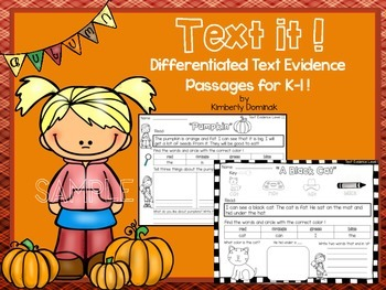 Text it: Differentiated Text Evidence Passages *Fall Sample