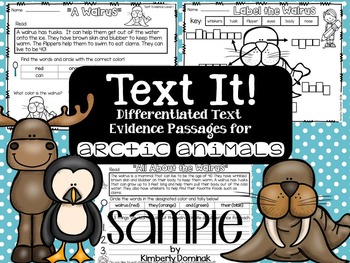 Text it: Differentiated Text Evidence Passages *arctic animal sample