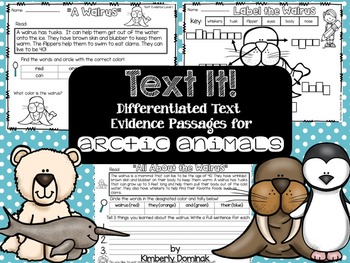 Text it: Differentiated Text Evidence Passages *arctic animals