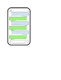 Text message dialogue template
