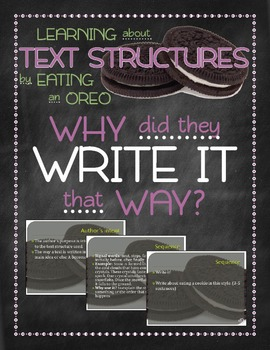 Text structures: why did they write it that way?