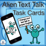 Text to English Daily Language Task Cards