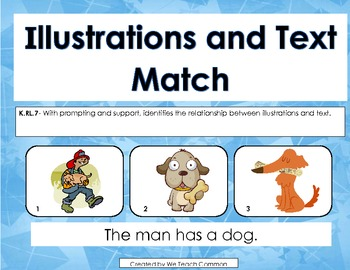 Text to Illustrations Matching Activity for Literacy Centers