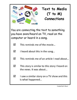 Text to Media Connections Poster