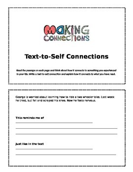 Text-to-Self Connections Booklet