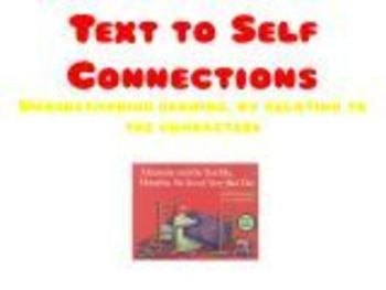 Text to Self Connections - Relating to the character (Australian Curriculum)