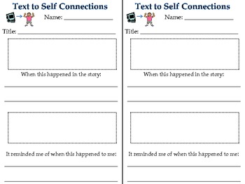 Text To Self Connections Worksheet Teaching Resources Teachers Pay