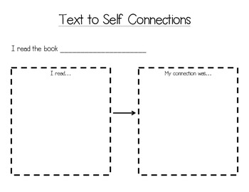 text to self connections worksheet by excelling in second tpt. Black Bedroom Furniture Sets. Home Design Ideas