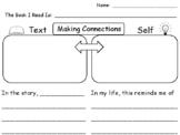 TEXT TO SELF Reading Response Graphic Organizer
