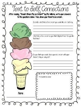 Text to Self - Ice Cream (Part 1 of 3 for Text Connections)