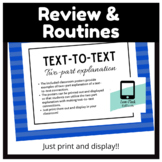 Text-to-Text Classroom Posters